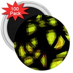 Yellow light 3  Magnets (100 pack) Front