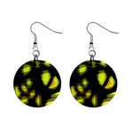 Yellow light Mini Button Earrings Front