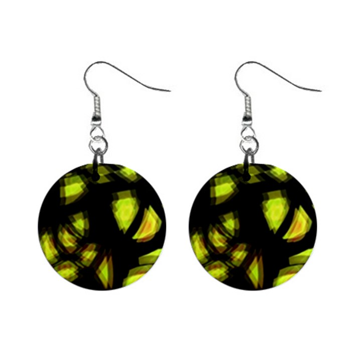 Yellow light Mini Button Earrings