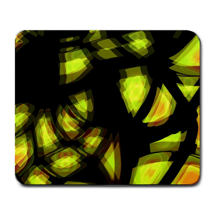 Yellow light Large Mousepads
