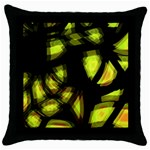 Yellow light Throw Pillow Case (Black) Front