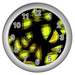 Yellow light Wall Clocks (Silver)  Front