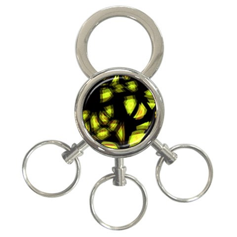 Yellow light 3-Ring Key Chains