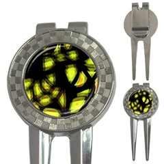 Yellow light 3-in-1 Golf Divots