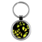 Yellow light Key Chains (Round)  Front