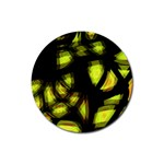 Yellow light Rubber Round Coaster (4 pack)  Front