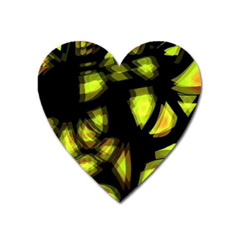 Yellow light Heart Magnet