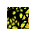Yellow light Square Magnet Front