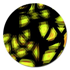 Yellow Light Magnet 5  (round)