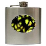 Yellow light Hip Flask (6 oz) Front