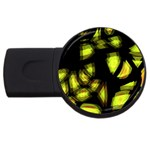 Yellow light USB Flash Drive Round (1 GB)  Front