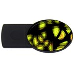Yellow light USB Flash Drive Oval (2 GB)  Front
