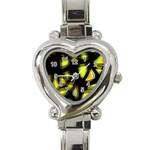 Yellow light Heart Italian Charm Watch Front