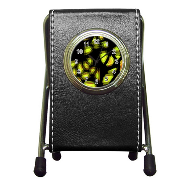 Yellow light Pen Holder Desk Clocks