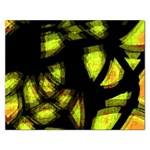 Yellow light Rectangular Jigsaw Puzzl Front
