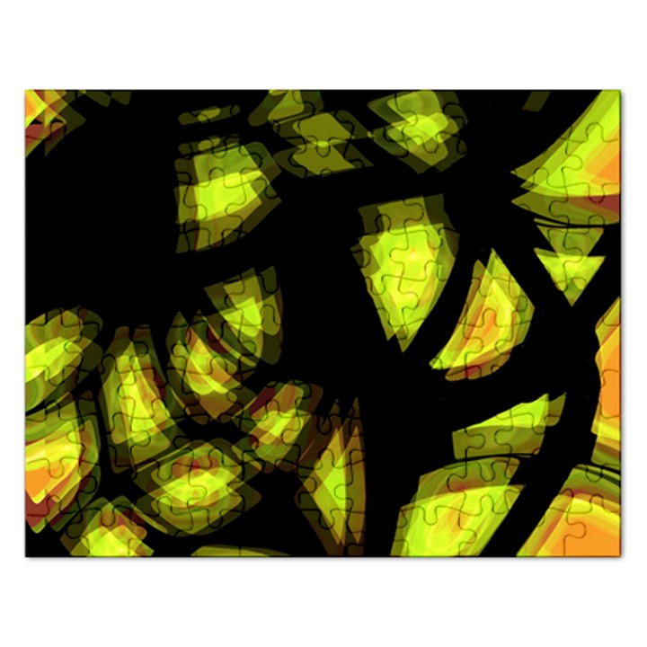 Yellow light Rectangular Jigsaw Puzzl