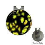 Yellow light Hat Clips with Golf Markers Front