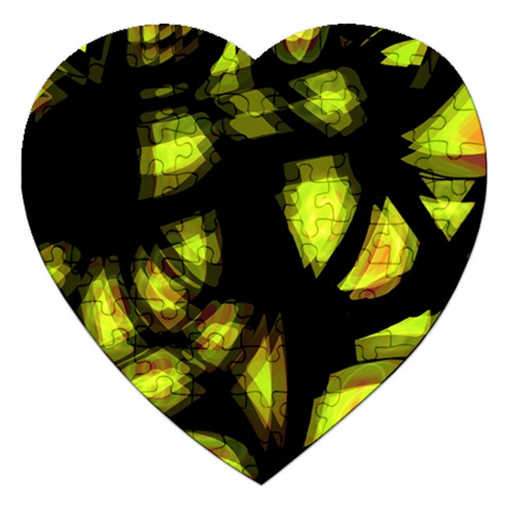 Yellow light Jigsaw Puzzle (Heart)