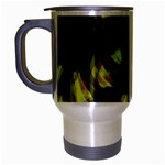 Yellow light Travel Mug (Silver Gray) Left