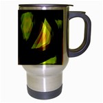 Yellow light Travel Mug (Silver Gray) Right