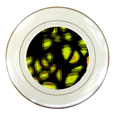 Yellow light Porcelain Plates