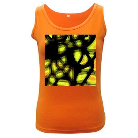 Yellow light Women s Dark Tank Top