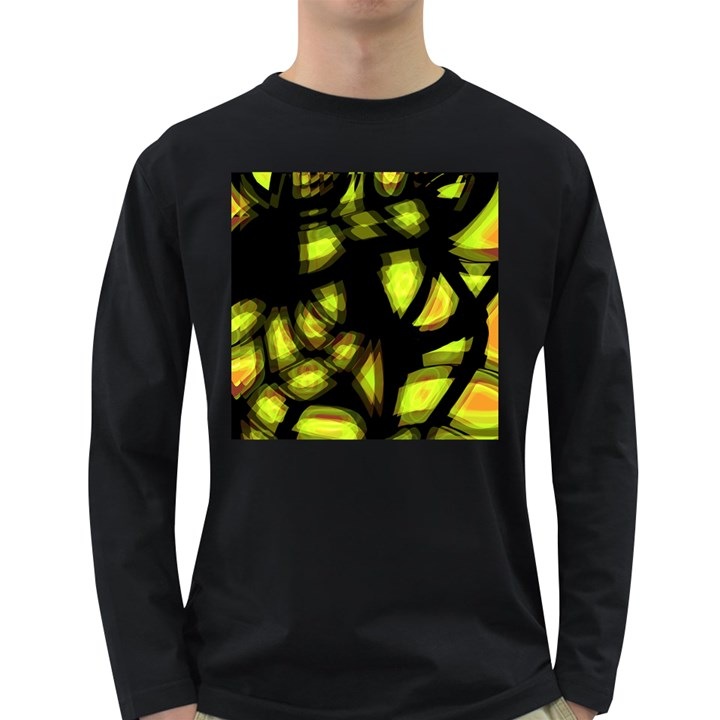 Yellow light Long Sleeve Dark T-Shirts