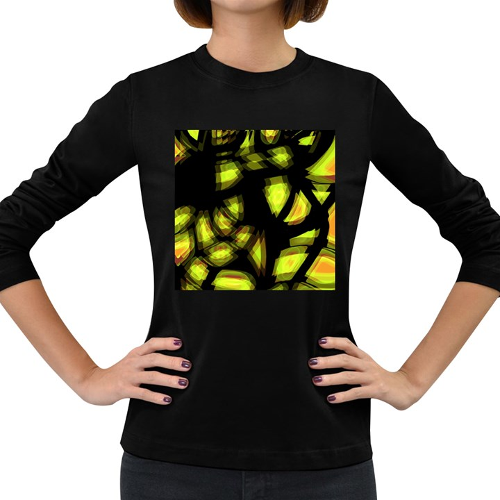 Yellow light Women s Long Sleeve Dark T-Shirts