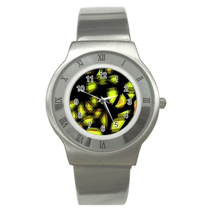 Yellow light Stainless Steel Watch