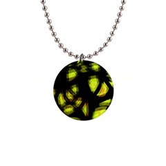 Yellow Light Button Necklaces
