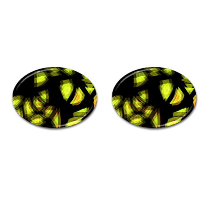 Yellow light Cufflinks (Oval)