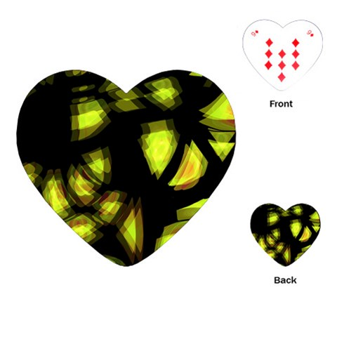 Yellow light Playing Cards (Heart)