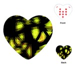 Yellow light Playing Cards (Heart)  Front