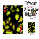 Yellow light Playing Cards 54 Designs  Front - Heart4