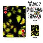 Yellow light Playing Cards 54 Designs  Front - Heart8