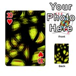 Yellow light Playing Cards 54 Designs  Front - Heart10