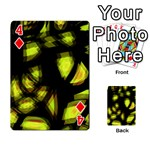 Yellow light Playing Cards 54 Designs  Front - Diamond4