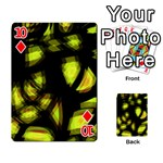 Yellow light Playing Cards 54 Designs  Front - Diamond10