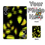 Yellow light Playing Cards 54 Designs  Front - Spade10