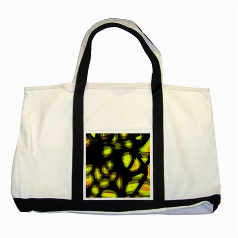 Yellow light Two Tone Tote Bag