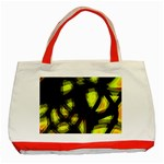 Yellow light Classic Tote Bag (Red) Front
