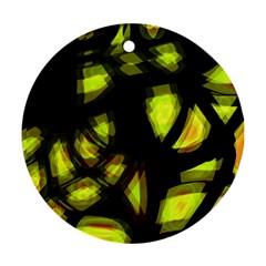 Yellow Light Round Ornament (two Sides)