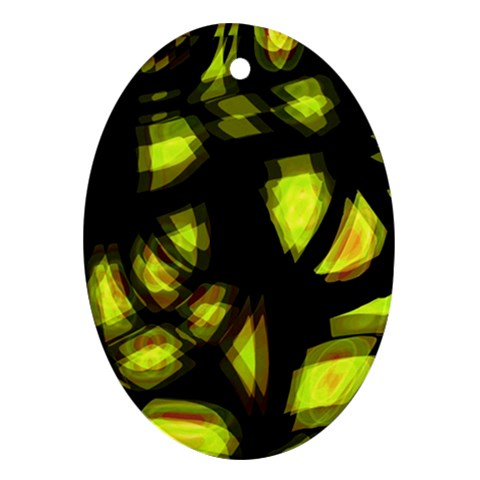 Yellow light Oval Ornament (Two Sides)