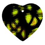 Yellow light Heart Ornament (2 Sides) Front