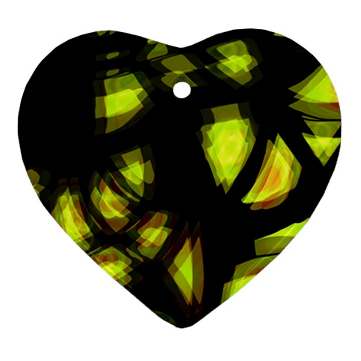 Yellow light Heart Ornament (2 Sides)