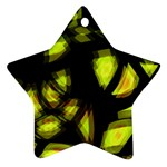 Yellow light Star Ornament (Two Sides)  Front