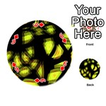 Yellow light Playing Cards 54 (Round)  Front - Diamond6