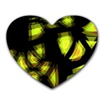 Yellow light Heart Mousepads Front