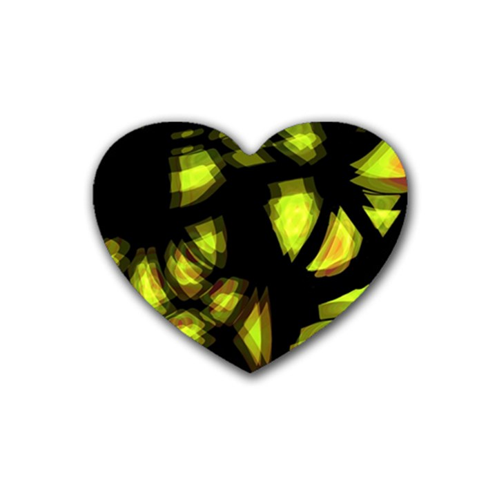 Yellow light Rubber Coaster (Heart)
