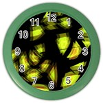Yellow light Color Wall Clocks Front